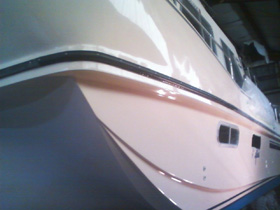 house boat yacht gel coat fiberglass repair another after